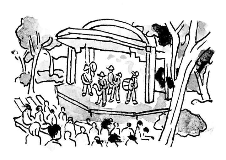 日本初の野外音楽堂